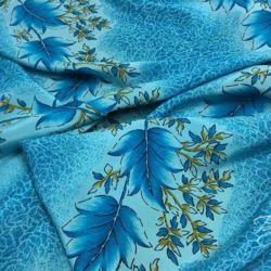 Голубой Креп с Листьями Италия