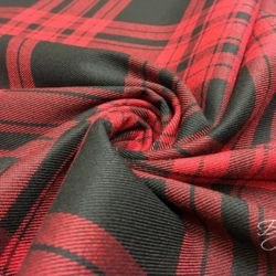 Красная Шотландка Тартан Италия