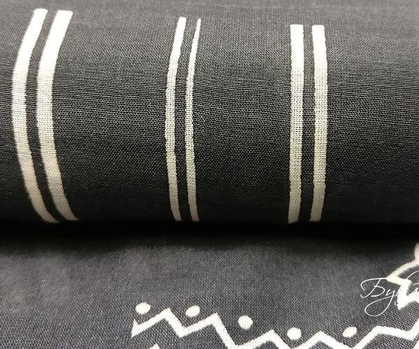 Черно-белый Шелк Батист