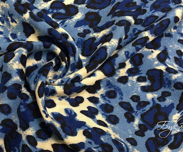 Синий Штапель Леопард