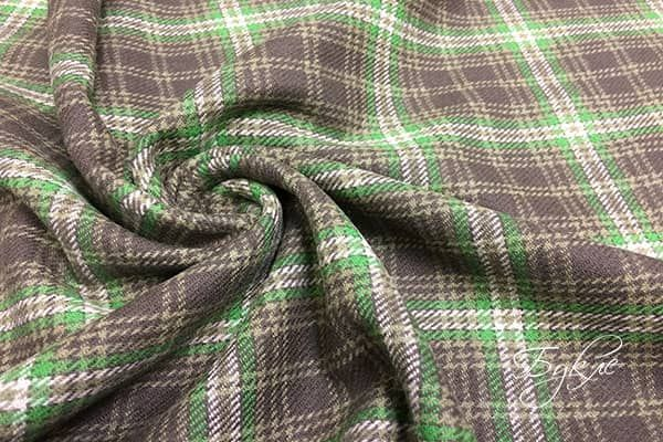 Зелено-Коричневый Шотландский Тартан