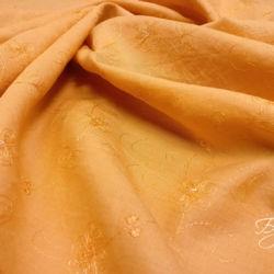 Оранжевый Лен с Вышивкой