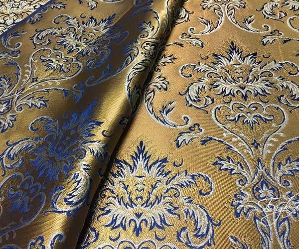 Синяя с Золотом Портьерная Турция