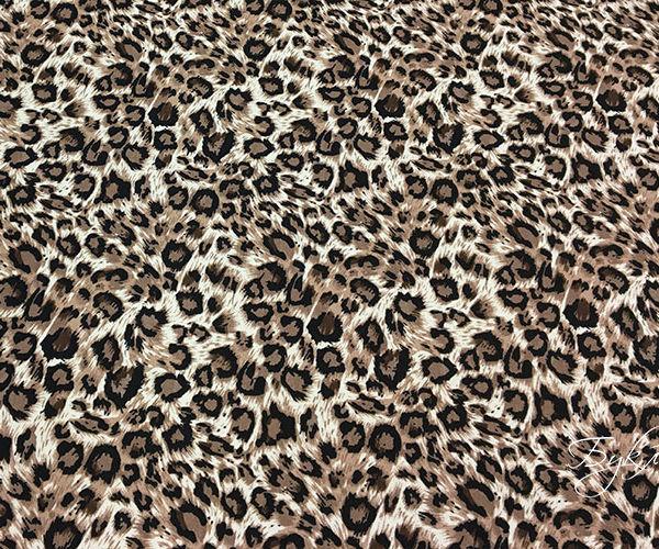 Бежевый Трикотаж Леопард