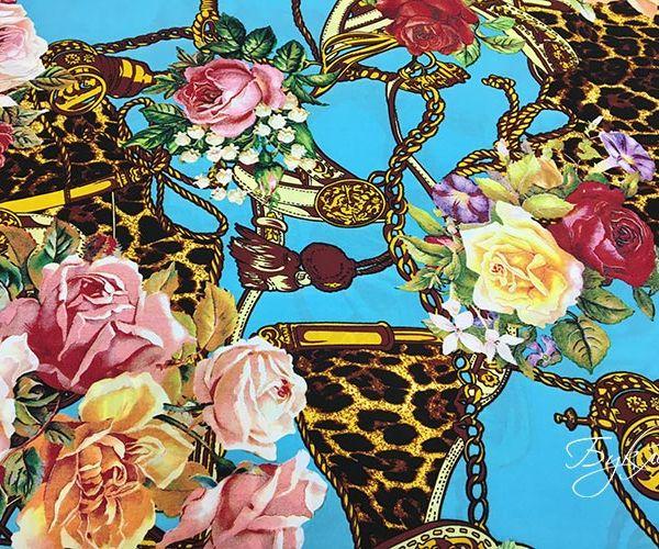 Штапель с Розами и Леопардом