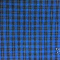 Черно-Синий в Клетку Габардин
