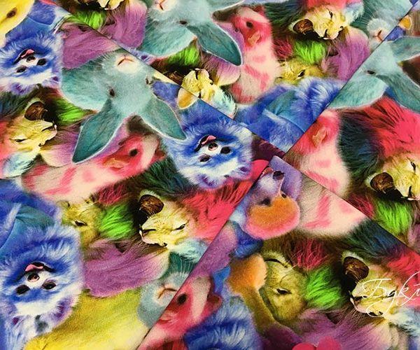 Разноцветные Звери Трикотаж