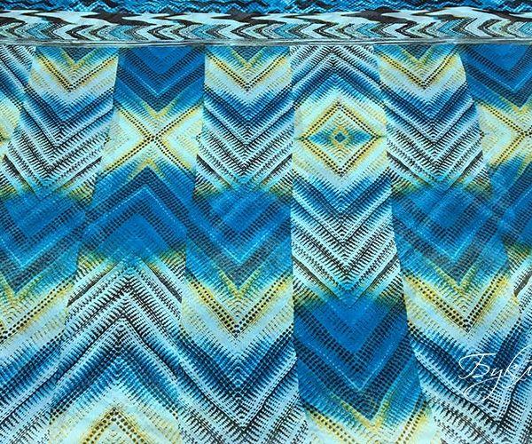 Голубой с Синим Шифон Италия