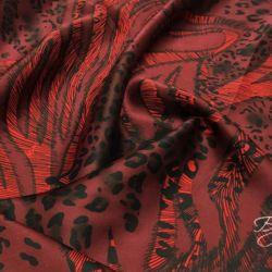 Бордовый Шелк Леопард