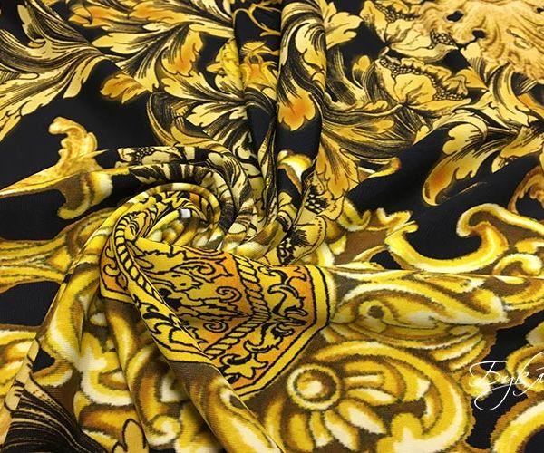 Черный с Золотом Трикотаж