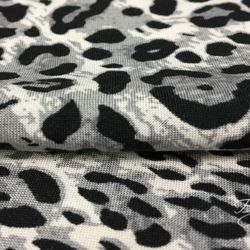 Штапель серый Леопард