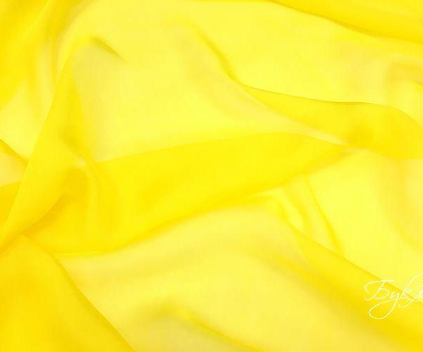 Желтый Шелк Шифон