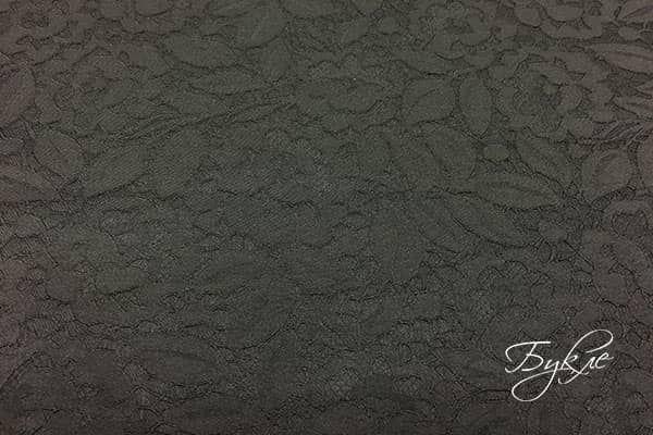 Черный Жаккард с Цветами