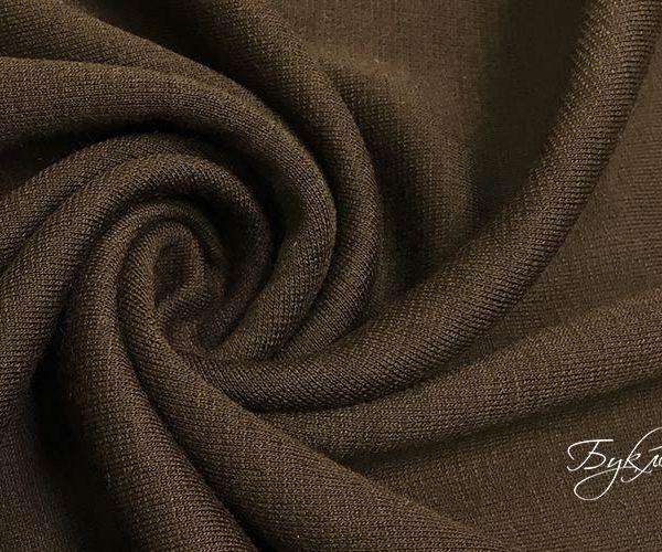 Темно-коричневый Трикотаж Шерсть