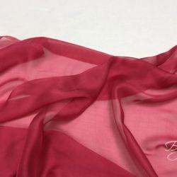 Темно-розовый Шелк Шифон