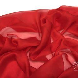 Красный Шифон Шелк