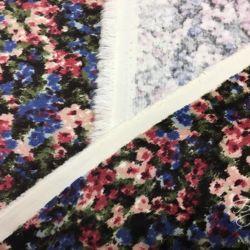Микровельвет Хлопок с Цветочками