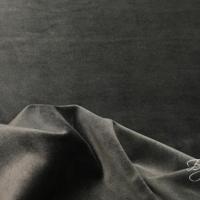 Темно-Серый Бархат Хлопок