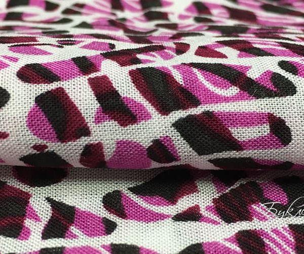 Бело-розовая Ткань Абстрактная