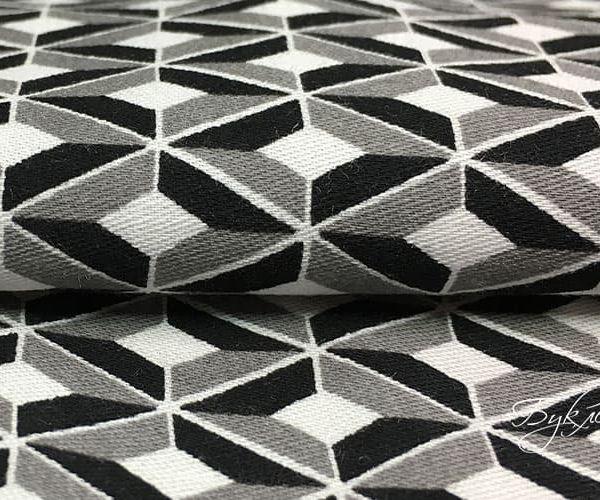Черно-серая Ткань в Ромбик