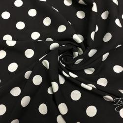 Черная ткань в Горох