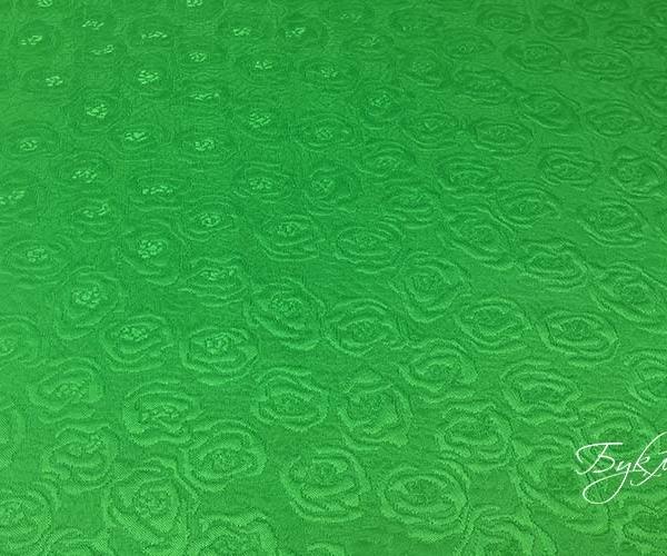 Зеленый Хлопок Жаккард