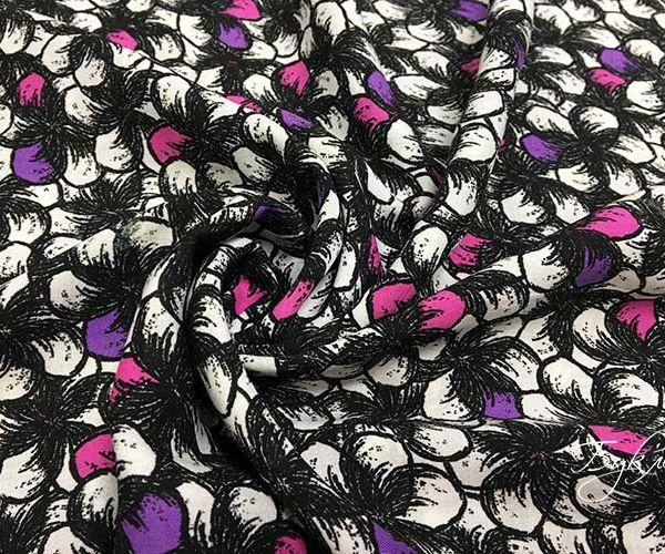 Розово-фиолетовые Цветы Штапель