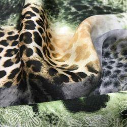 Атласная Ткань Леопард