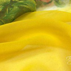 Желтый Шифон с Цветами