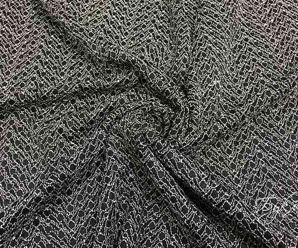 Черная ткань с Кружевом