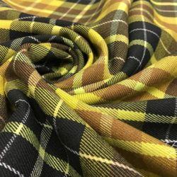 Желтая Шотландка Тартан Италия