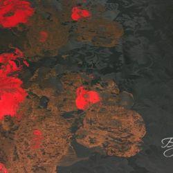 Черная с Розовым и Коричневым Тафта