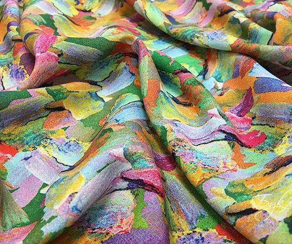 Разноцветный Штапель с Мазками