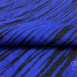 Синий Трикотаж Рубчик