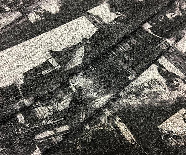 Черно-серый Трикотаж с Фотографиями