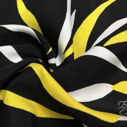 Черный Штапель с Желтыми Полосками