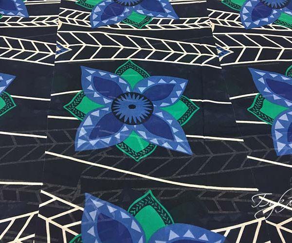 Темно-Синий с Цветком Батист