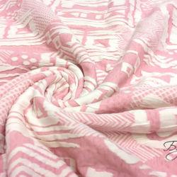 Розовый Трикотаж с Орнаментом
