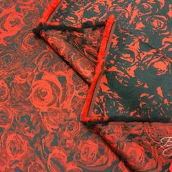 Тафта с Красными Розами Жаккард