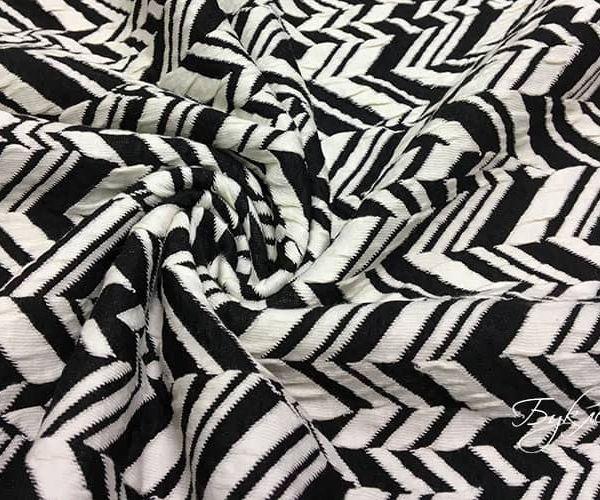 Черно-белый Трикотаж Зигзаг