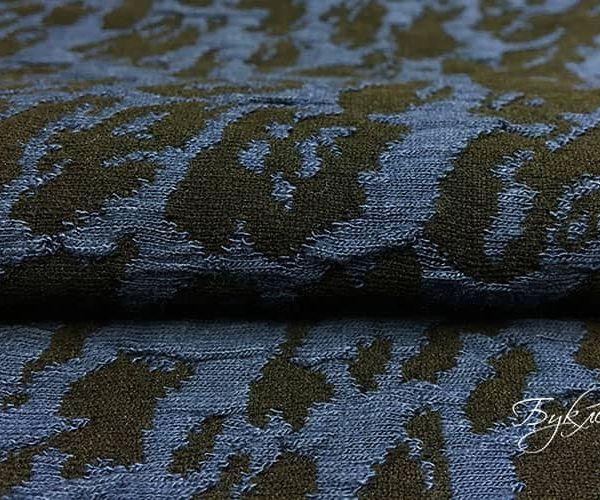 Черно-синий Трикотаж