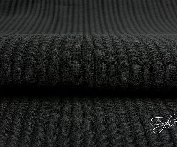 Черный Трикотаж с Тиснением