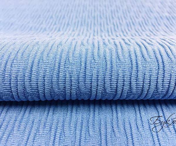 Голубой Трикотаж с Тиснением