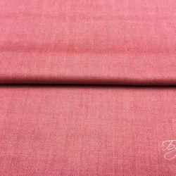 Розовая шерсть твид в елочку