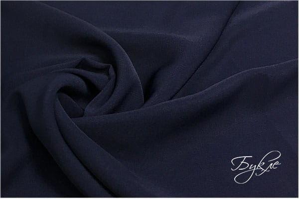 Темно-синий креп однотонный