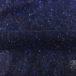 Темно-синий Трикотаж с Блестками