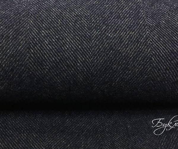 Темно-синяя шерсть твид