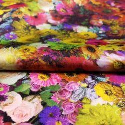 Атласная Ткань с Цветочками