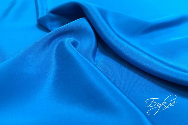 Синий Креп Однотонный Италия