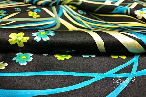 Шелковая Ткань с Лентами